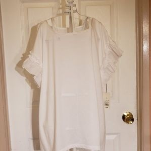 A New Day White Blouse Sz XL NWT